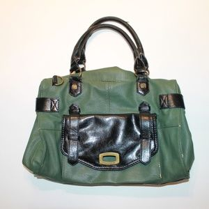 Steve Madden Green & Black Purse